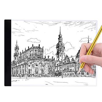 Panel De Dibujo A4 Led Luminoso Luz Portátil Ajustable Carga Con Cable Usb Mesa De Luz Táctil Brillo Para Niño Y Diseñadores