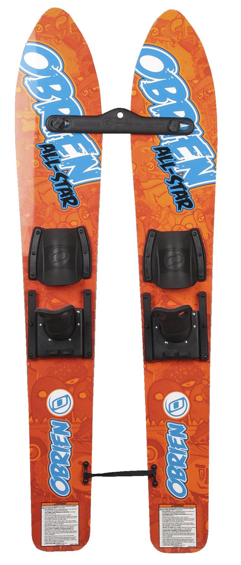 O'Brien All Star Jr. Trainer Water Skis, Orange, 46'' by O'Brien