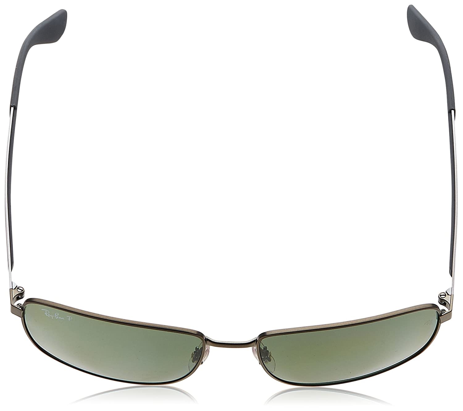 9babe1ba70 Amazon.com  Ray-Ban METAL MAN SUNGLASS - MATTE GUNMETAL Frame DARK GREEN  POLAR Lenses 61mm Polarized  Clothing