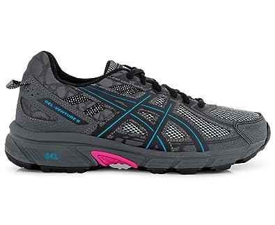 388ab651 ASICS Women's Gel Venture 6 Shoe Black/Island Blue/Pink Glow: Amazon ...