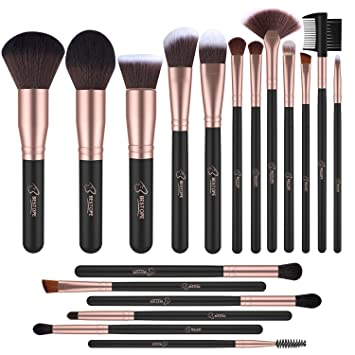 Bestope Make Up Pinsel Set Schwarzrose Gold 18 Stück Amazonde