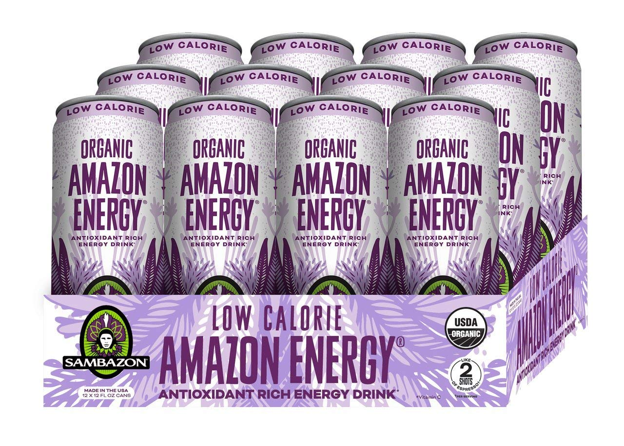 Sambazon Amazon Energy Drink, Low Calorie Acai Berry and Pomegranate, 12 Ounce (Pack of 12)