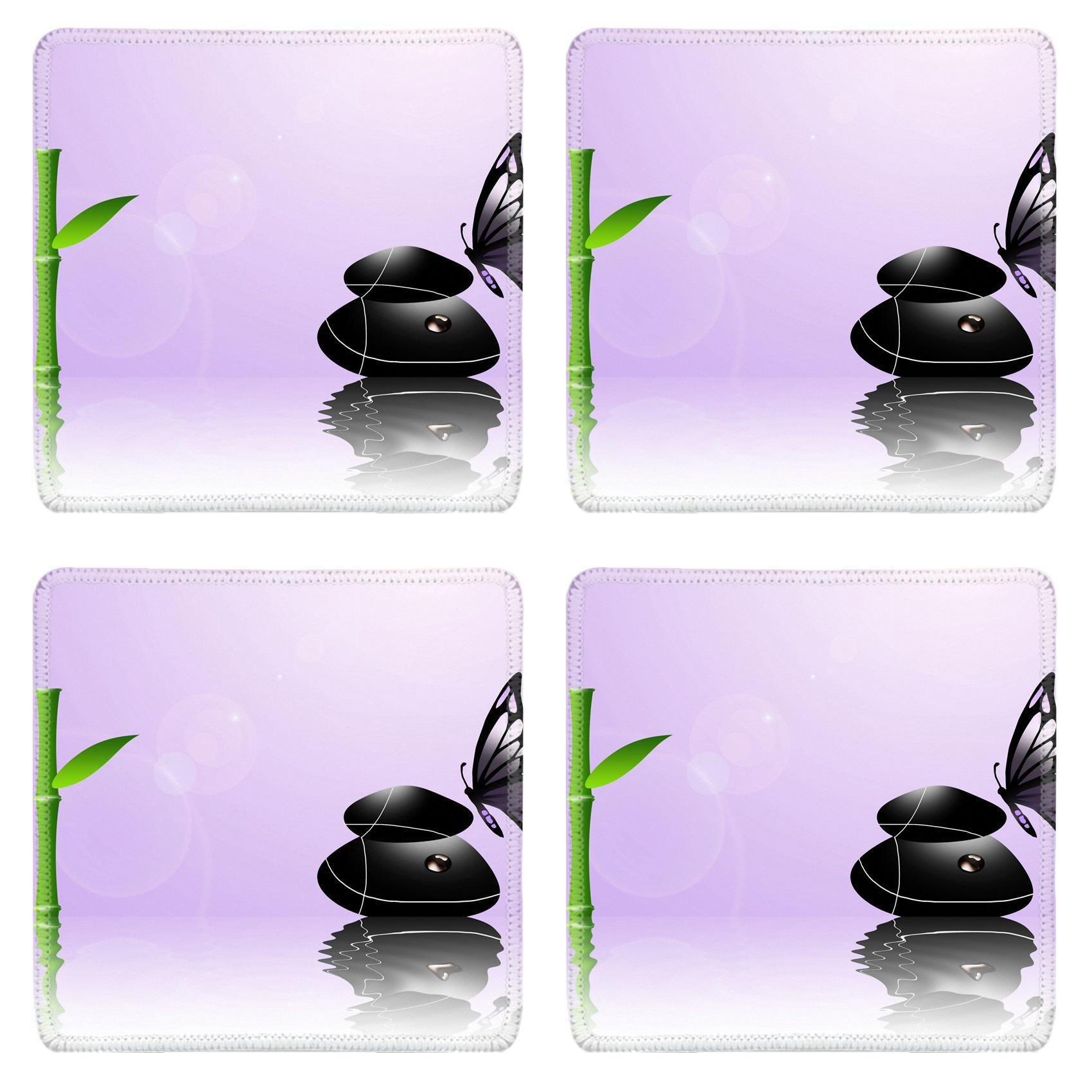 MSD Square Coasters Non-Slip Natural Rubber Desk Coasters design 20583575 Spa Background