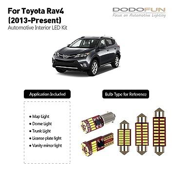 DODOFUN Deluxe - Kit de iluminación LED para Toyota RAV4 de 2013 (8 bombillas de