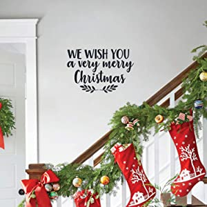 Vinyl Wall Art Decal - We Wish You A Very Merry Christmas - 17