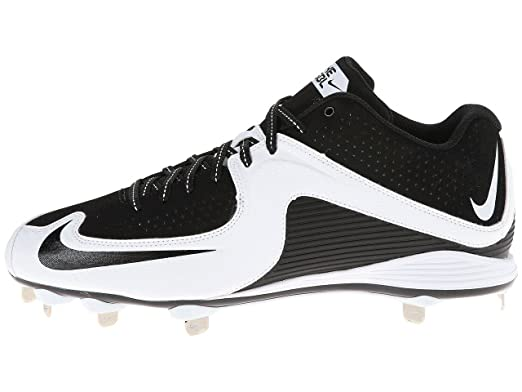 Nike Men\u0027s MVP Strike Low Metal Baseball Cleat, White/Black, 10.5 D(