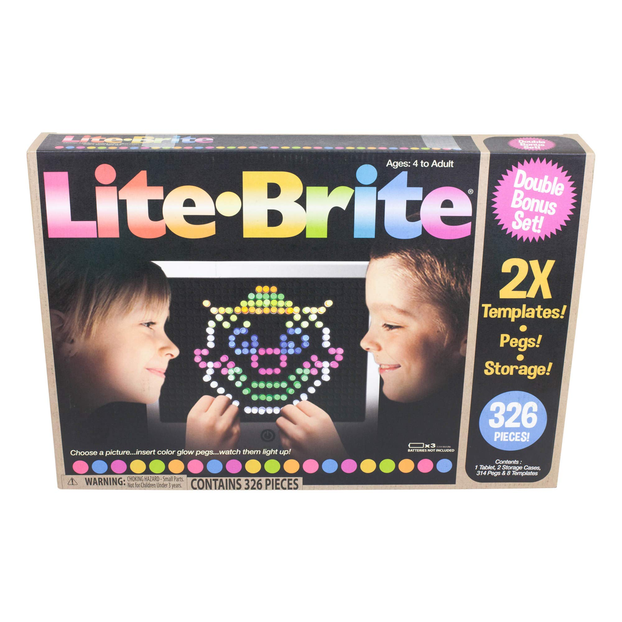 LITE Brite Magic Screen Light Bright Bonus Set by Basic Fun (Image #1)