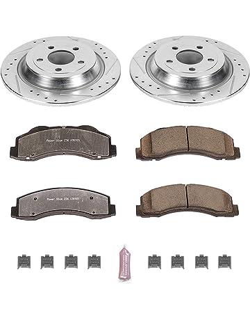 Fits Max Brakes Rear M1 Supreme Ceramic Premium Disc Brake Pads KM120952 2015 15 Ford F450 Super Duty w/10 Lugs Rotors