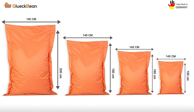 GlueckBean Id/éal pour les chambres d/'enfants Pouf rectangulaire de qualit/é sup/érieure cam Avec rembourrage en billes de polystyr/ène Pour l/'int/érieur et l/'ext/érieur