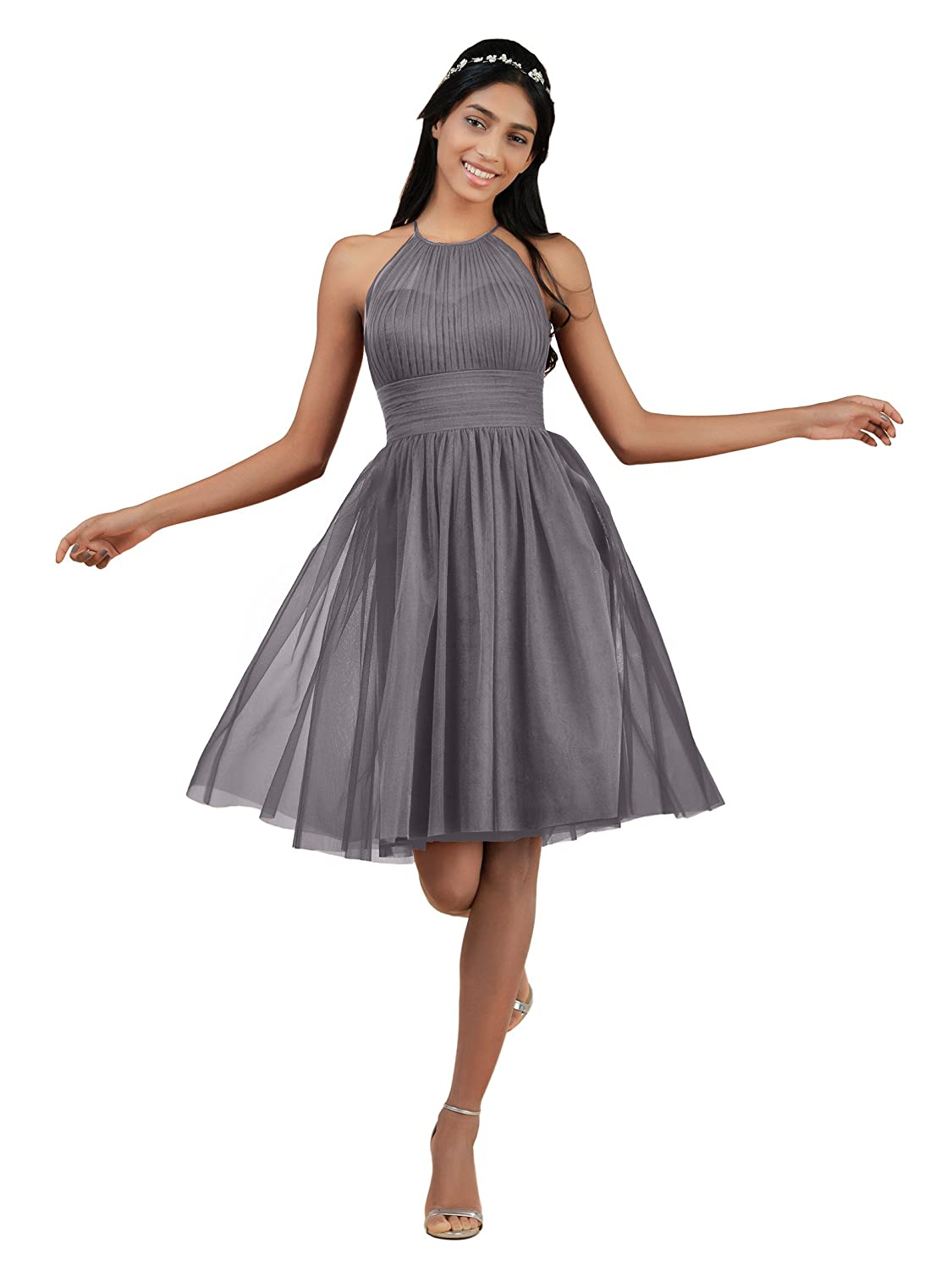 2c388618fae2 Top 10 wholesale Grey Tulle Bridesmaid Dress - Chinabrands.com