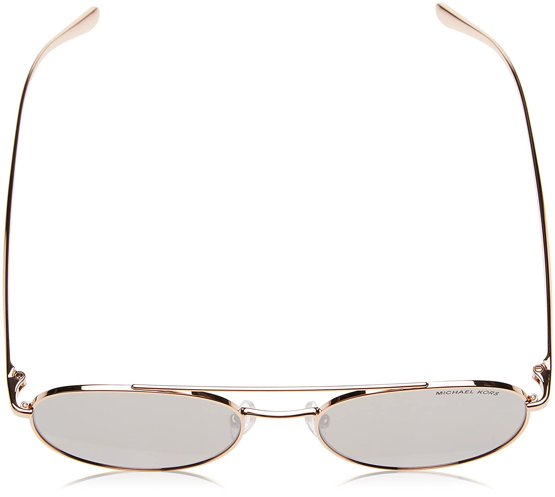 b6d796c7c Michael Kors Women MK1021 53 LON Rose Gold/Silver Sunglasses 53mm at Amazon  Women's Clothing store: