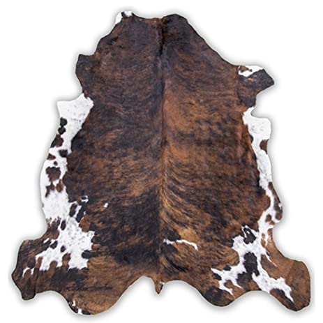Brindle Cowhide Rug Cow Hide Skin Leather Area Rug On SALE: XL