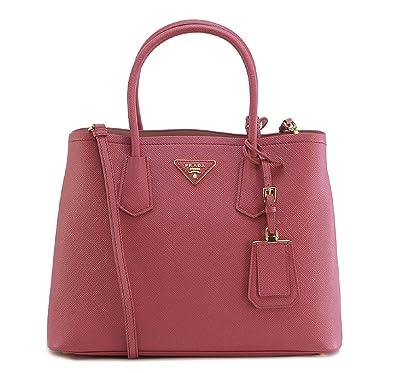 a8cfd0d7710a Prada Women s Saffiano Cuir Salmon Pink Handbag 1BG775  Handbags  Amazon.com