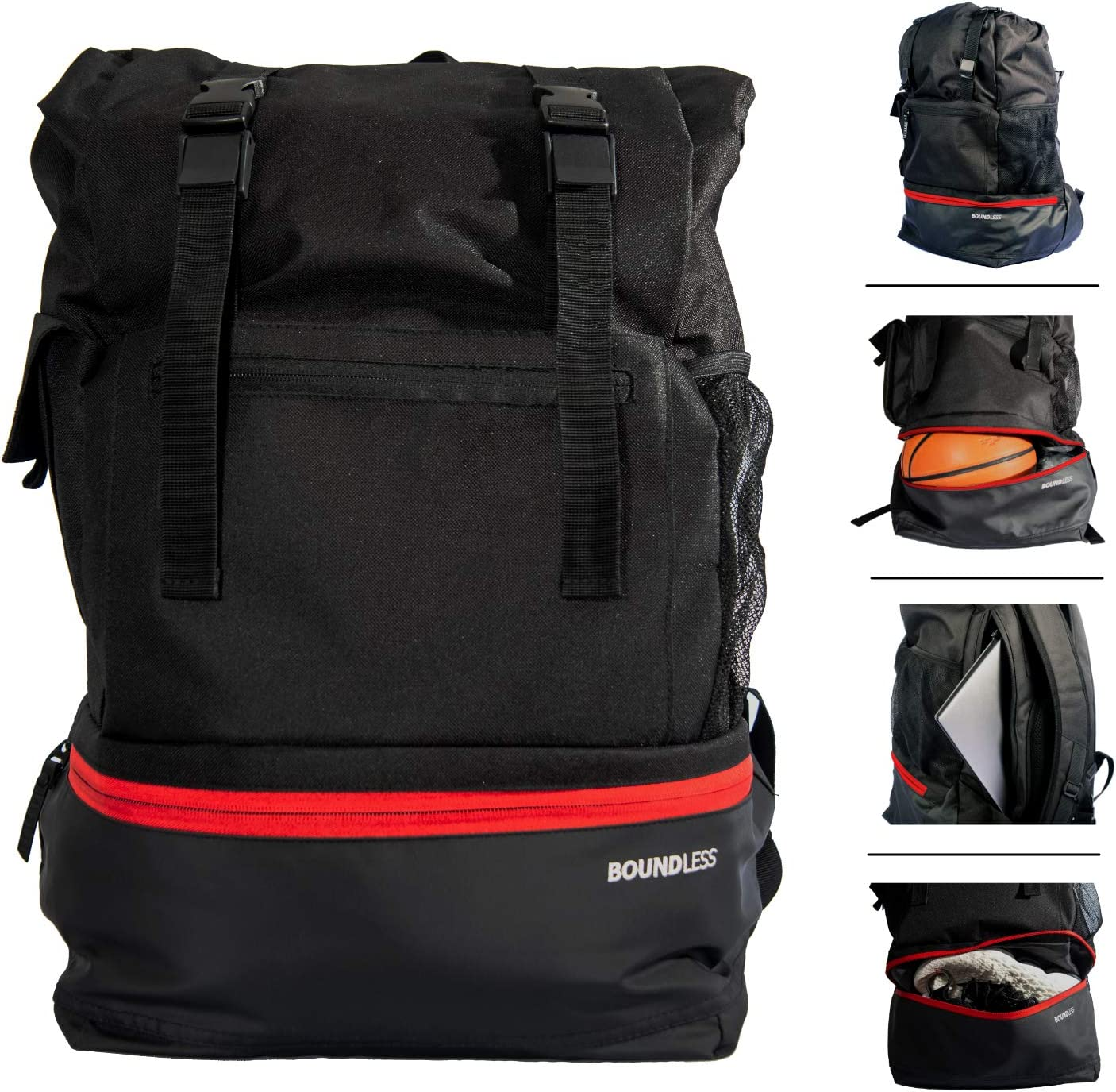 Boundless Blueprint Backpack - Basketball, Sports, Gym, Travel Backpack/Rucksack/Bag - Versatile, Stylish, Durable - Ball/Shoe Compartment, Laptop Sleeve, Inner Bag Divider