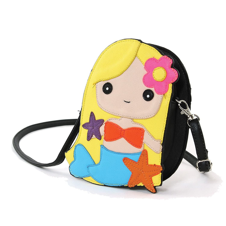 Adorable Mermaid Girl Shoulder Crossbody Bag