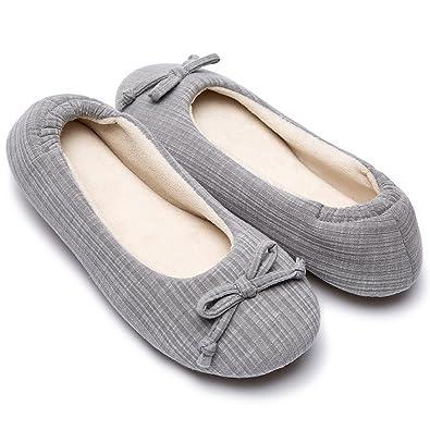 amazon com cozy niche women s comfort stripe knitted ballerina
