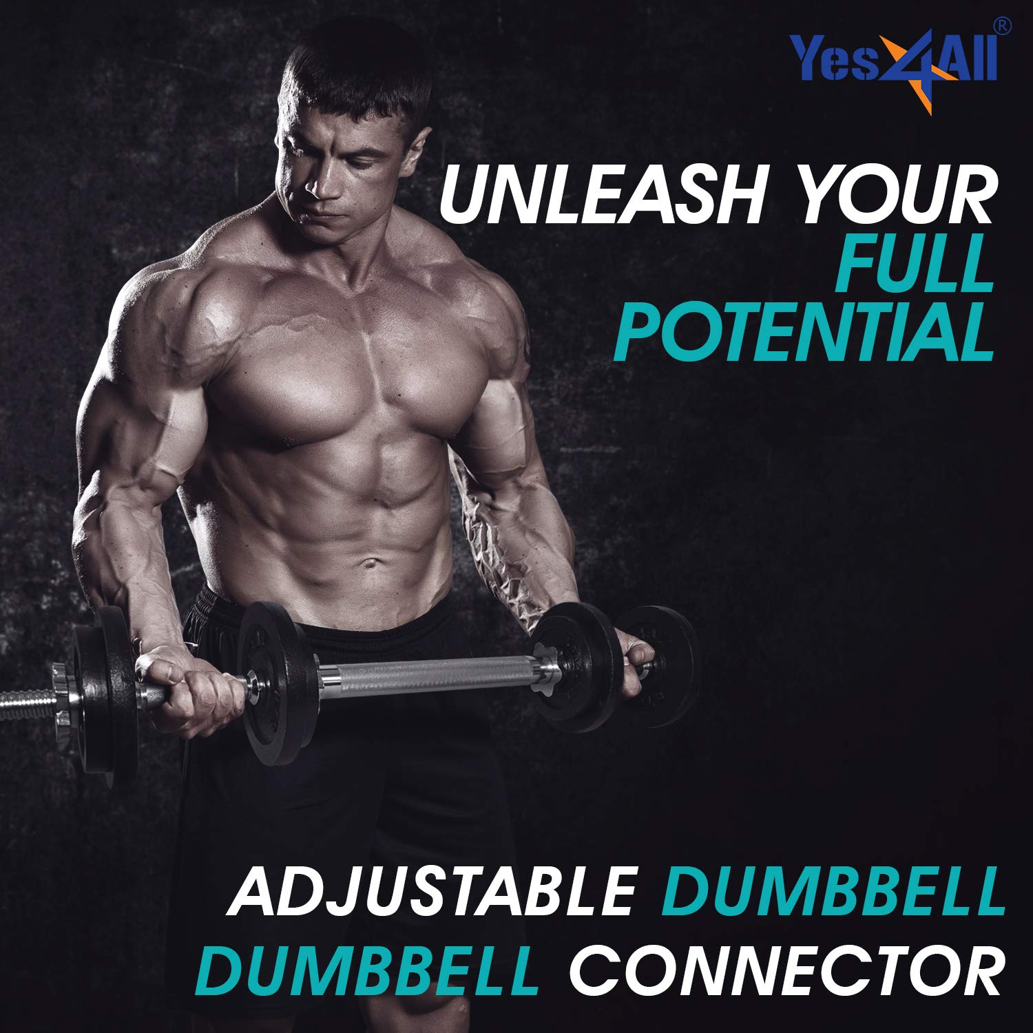 Yes4All Adjustable Dumbbell Set with Dumbbell Connector – 40 lbs Dumbbell Weights (Pair) by Yes4All (Image #5)