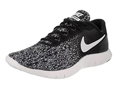 a713ec35cba2f Nike Women s Flex Contact Running Shoe Black White Size 8