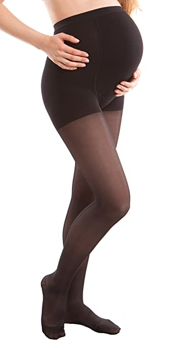 e5532233cd55e Image Unavailable. Image not available for. Color: GABRIALLA Graduated  Compression Maternity Pantyhose ...