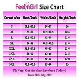 FeelinGirl Women's Latex Training Cincher Workout