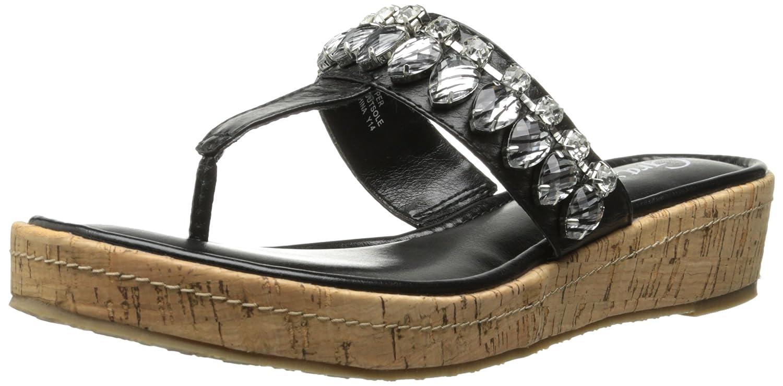 Grazie Women's Cayman Wedge Sandal B00PAMY9Q4 9 B(M) US|Black