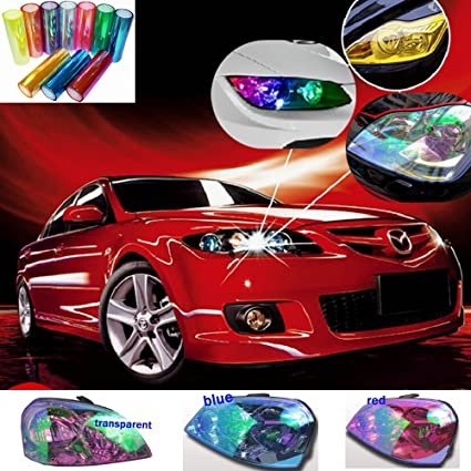 Amazon Com 12 X48 Purple Car Headlight Protective Film Chameleon