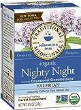 Traditional Medicinals Organic Nighty Night Valerian Herbal Tea - 16 bags per pack -- 6 packs per case.