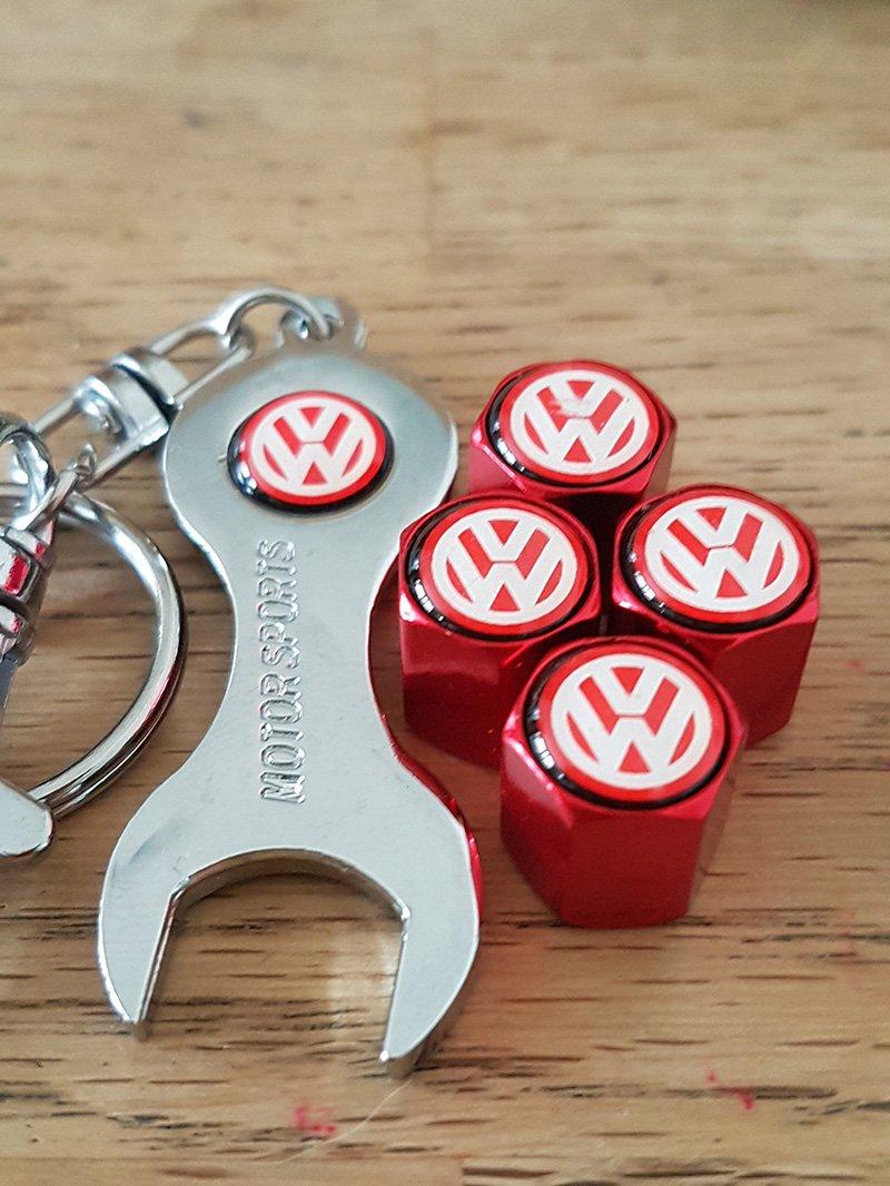 speedcraft VW Volkswagen rojo aleación rueda neumático ...