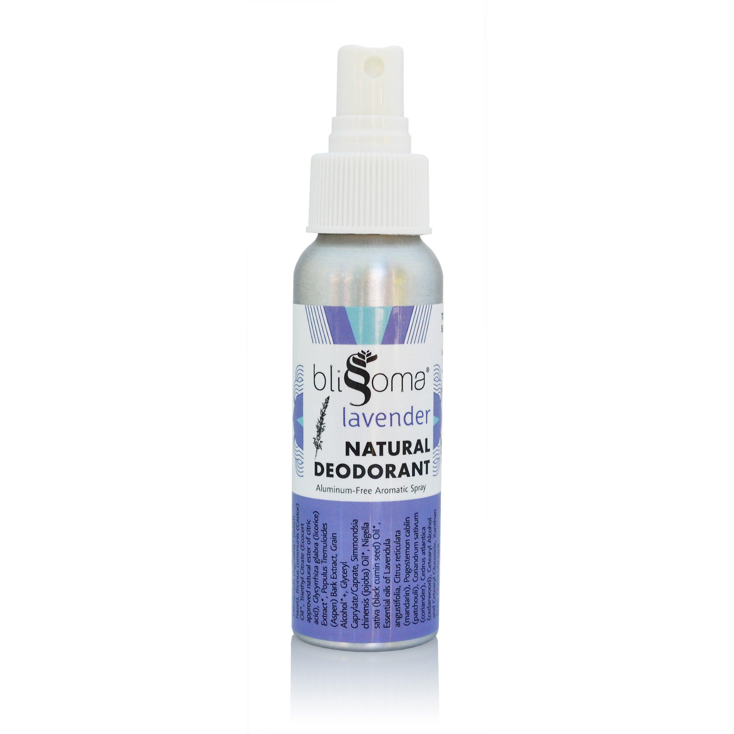 Lavender Natural Deodorant - Aromatic Spray with No Aluminum, No Toxins