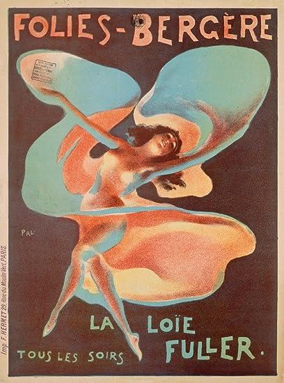 Folies Bergere La Loie Fuller Jules Cheret art print giclee/' 24x36 inch