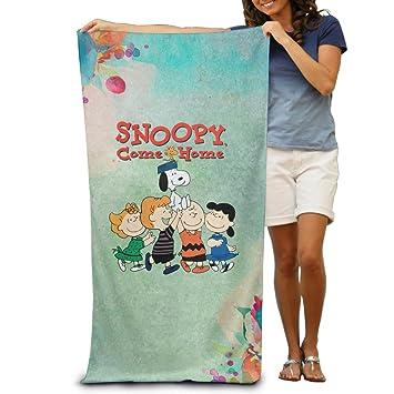 Adultos Snoopy Come Home Cable de máxima suavidad y absorbencia toalla de baño/playa/piscina: Amazon.es: Hogar