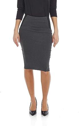 Slimming Side Panels Knee Length ESTEEZ Womens Pencil Skirt Charlotte Ponte Knit