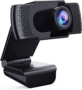 Webcam with Microphone, Full 1080P HD PC Webcam Portable Compatible with Most of Device &App, Plug and Play Webcam for Online Conferencing Gaming Live Streaming Laptop Desktop USB 2.0 Web Camera