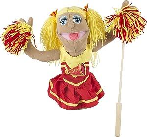 Melissa & Doug Cheerleader Puppet,White