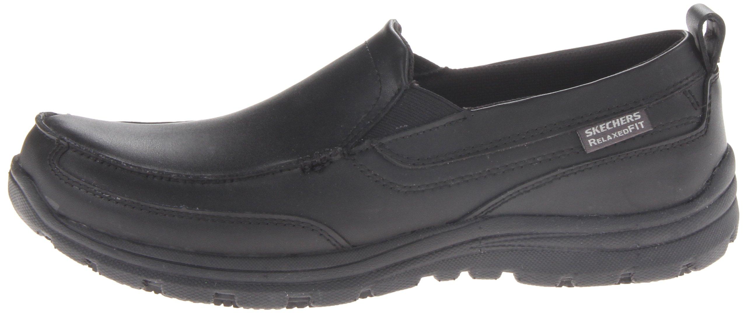 Skechers for Work Men's Hobbes Relaxed Fit Slip Resistant Work Shoe, Black, 11.5 M US by Skechers (Image #5)