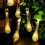 Techno E-Tail 20 LED Waterdrop Decorative String Lights, Diwali Christmas Fairy Lights for Home Decoration (Warm White)