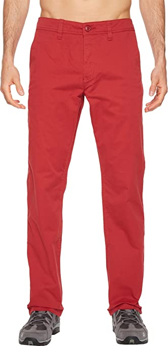 Toad&Co Men's Mission Ridge Pant Brick Red 30 32