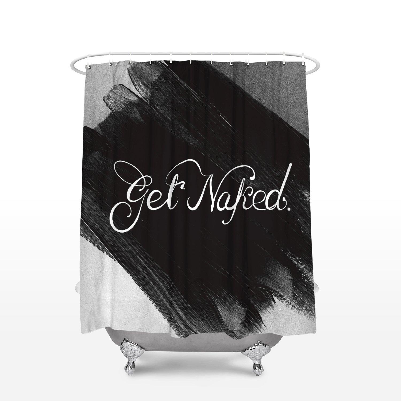 Amazon.com: Cloud Dream get Naked Shower Curtain Hooks (Waterproof ...
