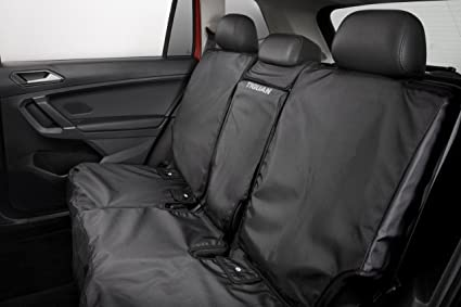 Amazon Com 2018 2019 Vw Volkswagen Tiguan Rear Black Seat Cover For