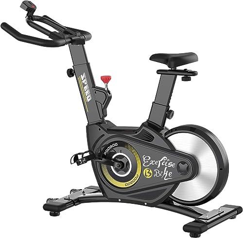 pooboo Magnetic Resistance Belt Drive Bike Exercise Bike Stationary Bike Indoor Cycling Bike