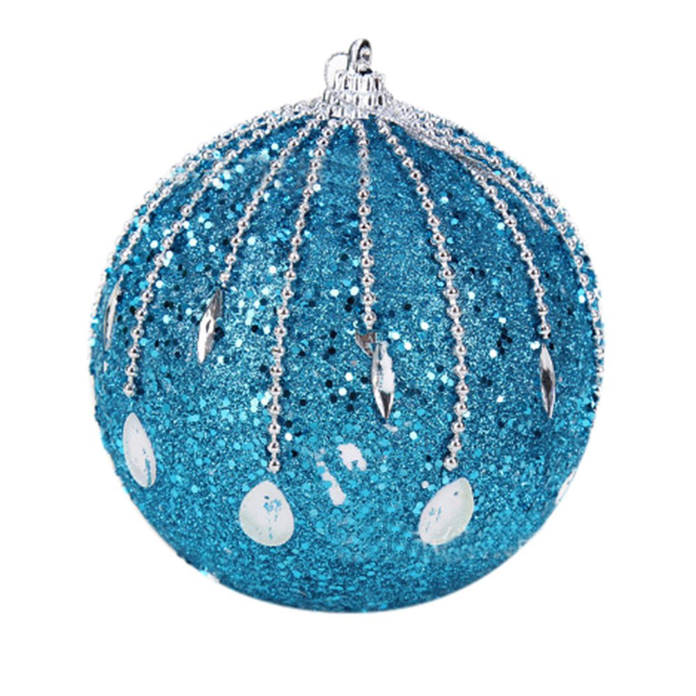Christmas Tree Decorations Clearance,Jchen(TM) Merry Christmas Christmas Rhinestone Glitter Baubles Balls Xmas Tree Ornament Decoration 8CM (A)
