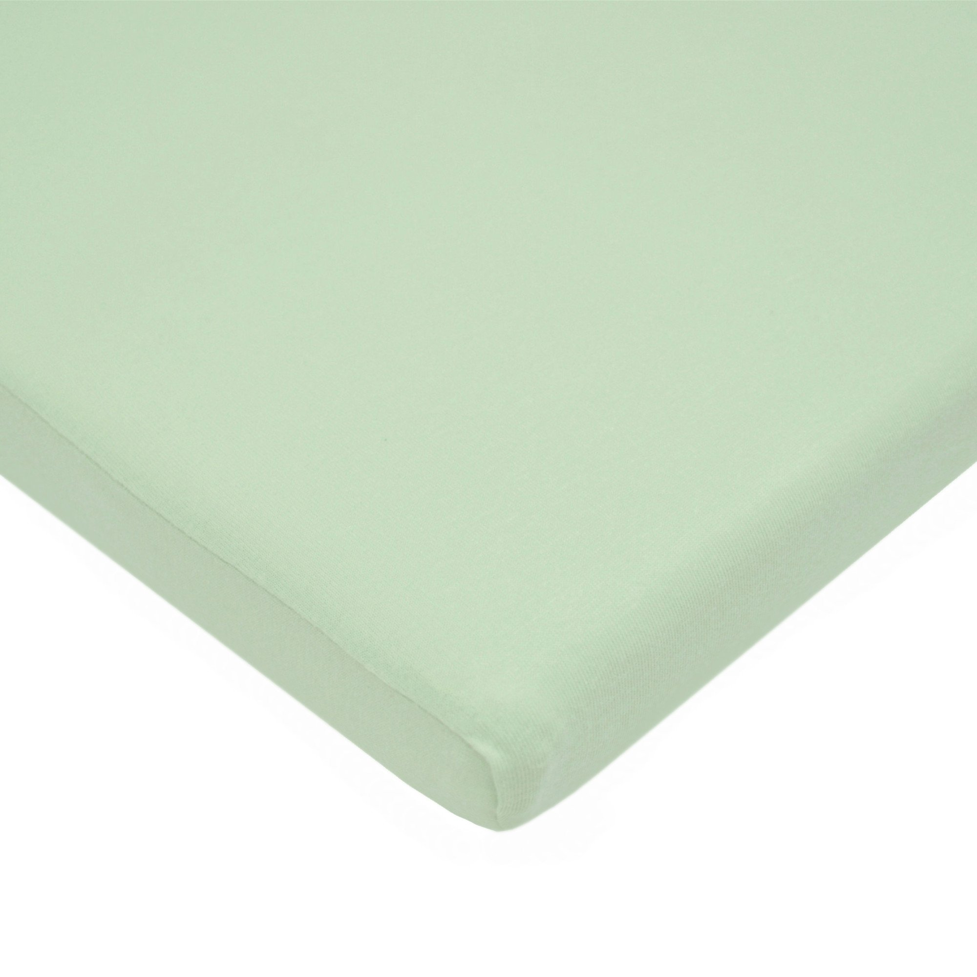 American Baby Company 100% Cotton Value Jersey Knit  Fitted Bassinet Sheet, Celery