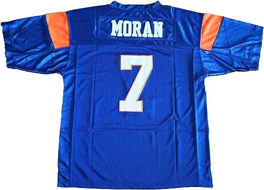 Alex Moran #7 Mountain Goats Football Jersey Blue State TV Uniform Costume Gift