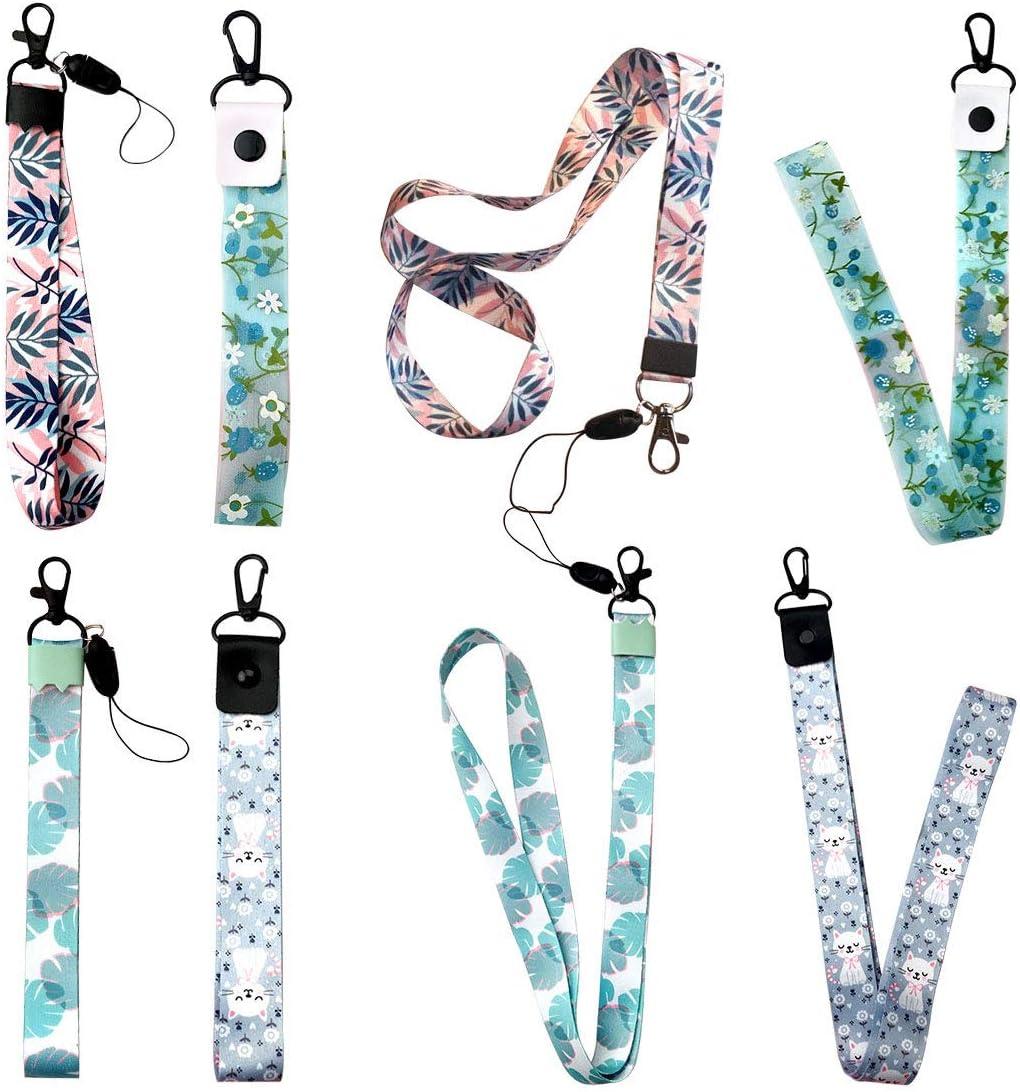 Courroie de t/él/éphone Portable lani/ère de Fleur lani/ère pour cl/és ID Carte S pour Porte-Badge USB DIY Hang Rope