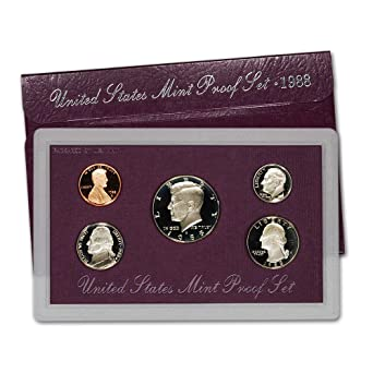 1988 S Lincoln Memorial Mint Proof Penny from Original U.S Proof Set