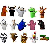 Vinayaks (4 pcs of Your Choice) Animal Hand Puppets Set: Rabbit,Elephant ,Monkey, Fox, Cow,Horse,Bear,Snake,Fish,Parrot,Donkey,Tiger, Peacock,Crow,Lion, Dog, Cat ,Tortoise,Goat Puppets for Kids