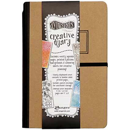 Ranger DYE60130 Dyan Revelrys Dylusions Creative Dyary Stamp Multicolor