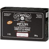 J.R. Watkins Men's Bergamot & Oak Body & Face Bar, 226 grams