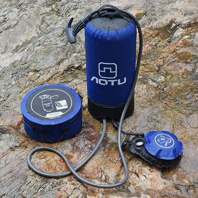 Seasaleshop Campingdusche Mit Pumpe Und Duschd/üse 11L Tragbare Dusche Campingdusche Solardusche Duschsack F/ür Wandern Im Freien Klettern.