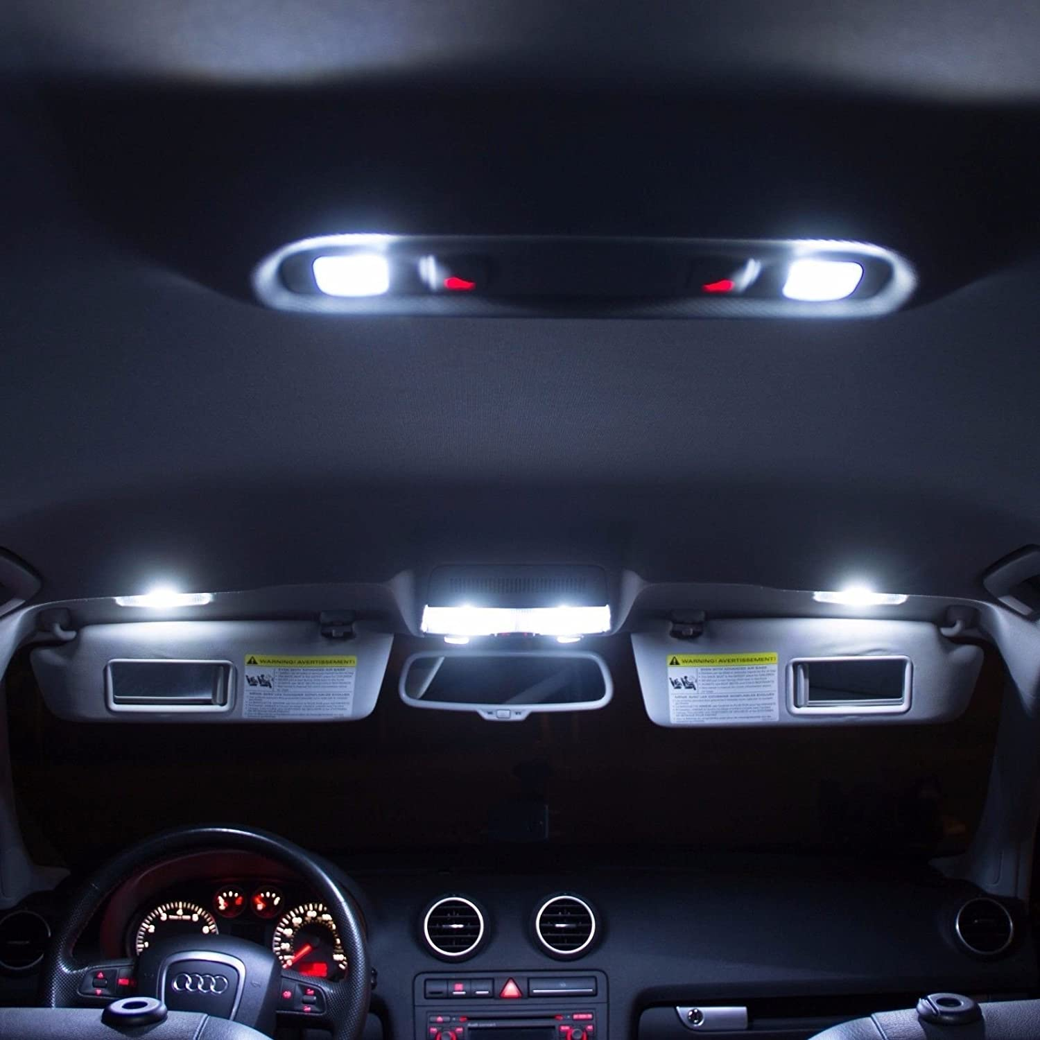 Led White Lights Interior Package Kit For Ford Excursion My Power Windows And Dome On 2000 Explorer Worked 2005 14 Bulbs Automotive